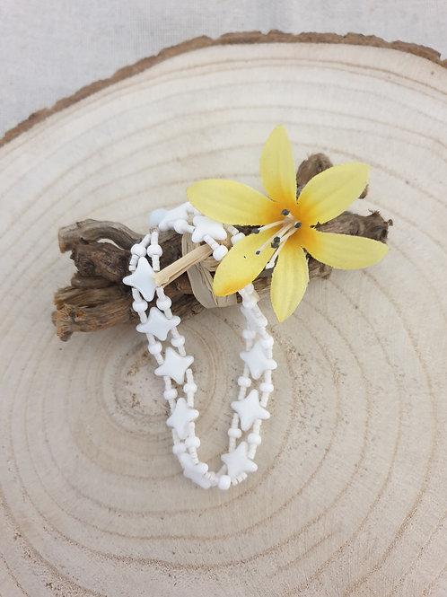 "Bracelet étoile"" blanc."