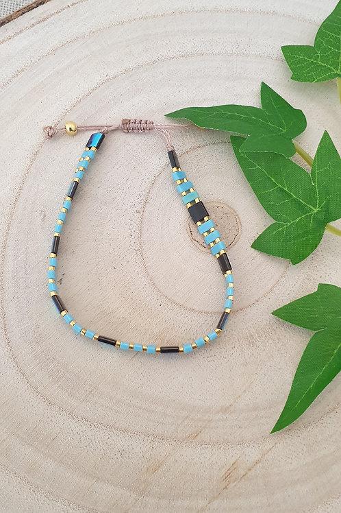Bracelet en perles de verre japonaises