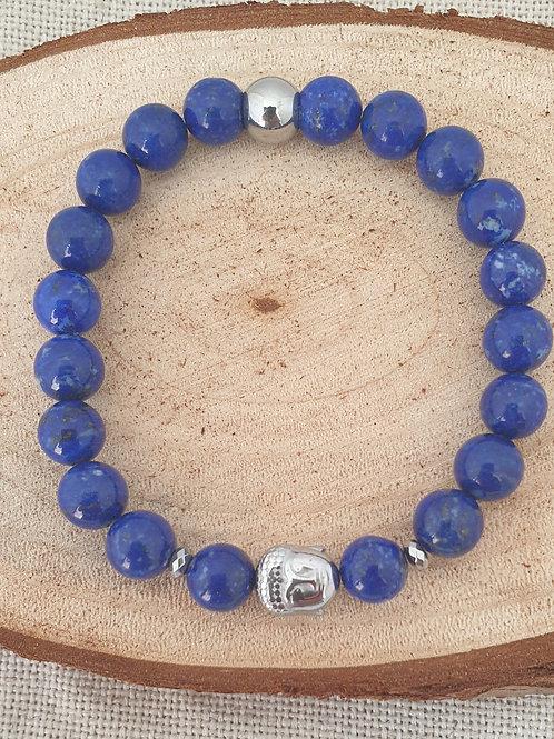 Bracelet bleu et argent.