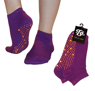 Purple Grip Socks