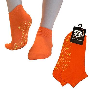 Orange Grip Socks