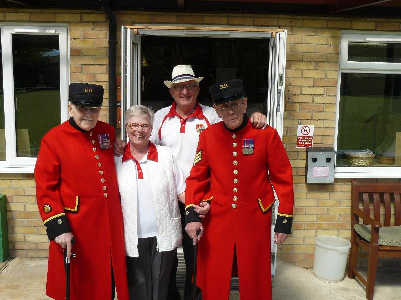 Visit of Chelsea Pensioners
