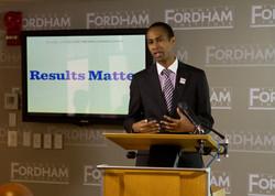At ed reform presentation at Fordham