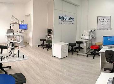 Sala para exames oftalmológicos à distância