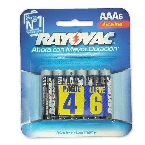 BLISTER DE BATERIAS RAYOVAC TRIPLE A 012800389353