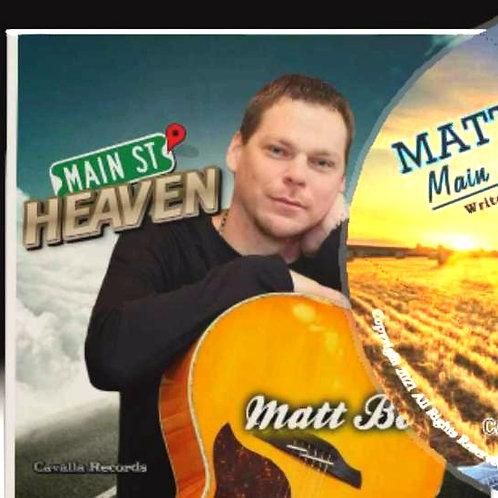 Matt Boone- MAIN STREET HEAVEN (2021 radio single CD)