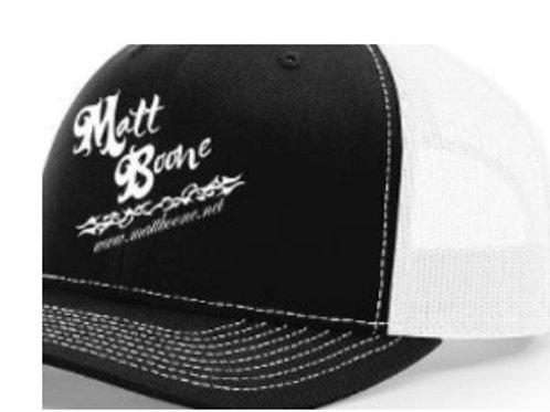 Matt Boone Black/White Trucker Cap