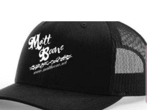 Matt Boone Black/Black Trucker Cap