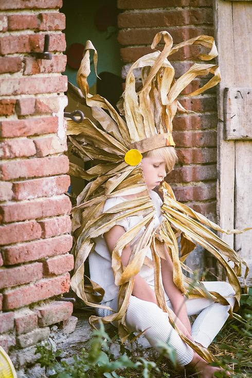 Enfant déguisé en Indien