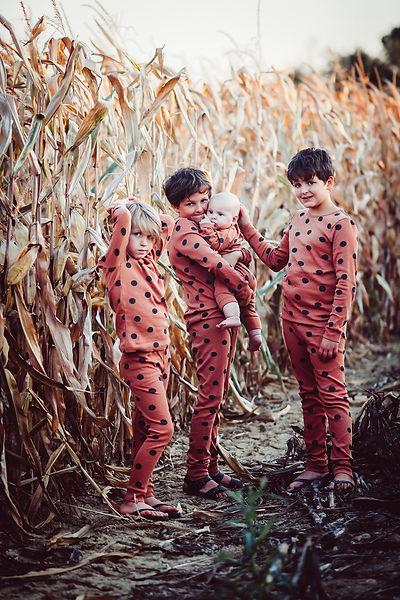 Enfants dans un champ de blé