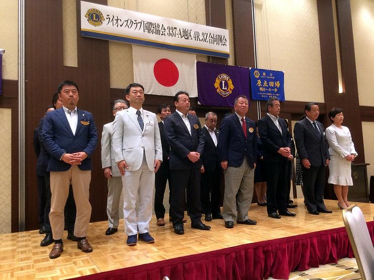 次期会長のL鶴(前列右から右から3人目)
