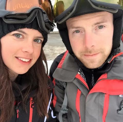 My husband and I on a ski trip