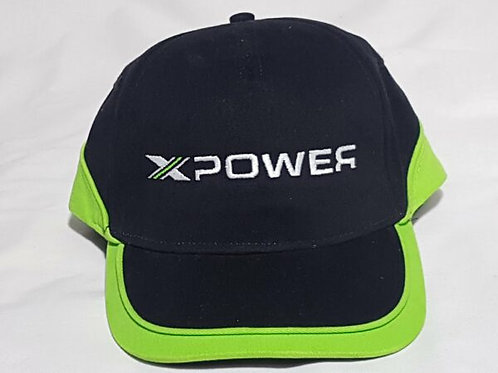 Xpower Cap- Black and Green