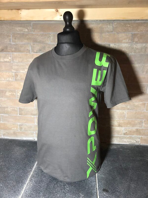 Xpower Logo Tshirt-Vertical-Charcoal