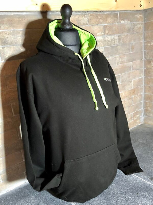 Xpower Hoodie- Black and Green