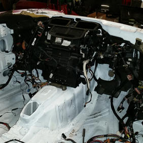 V8 heater and pedals