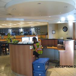 The reception desk.