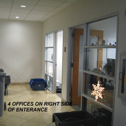 A view of the four offices to the right of the entrance.