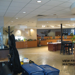 Interior: This open space will become the large meeting and gathering space.
