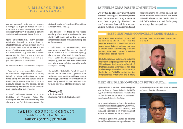 Fairfields Newsletter - Winter 2020