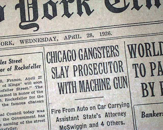 Capone's gang takes over Chicago