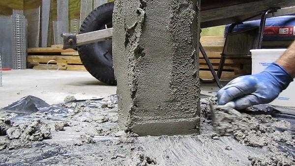 sculpting concrete garden light