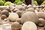 Concrete spheere garden