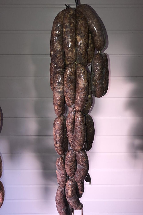 Black Pudding & Bacon Sausages