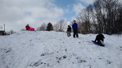 Sledding at co-op