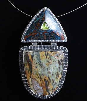 Petrified wood and Peridot.jpg