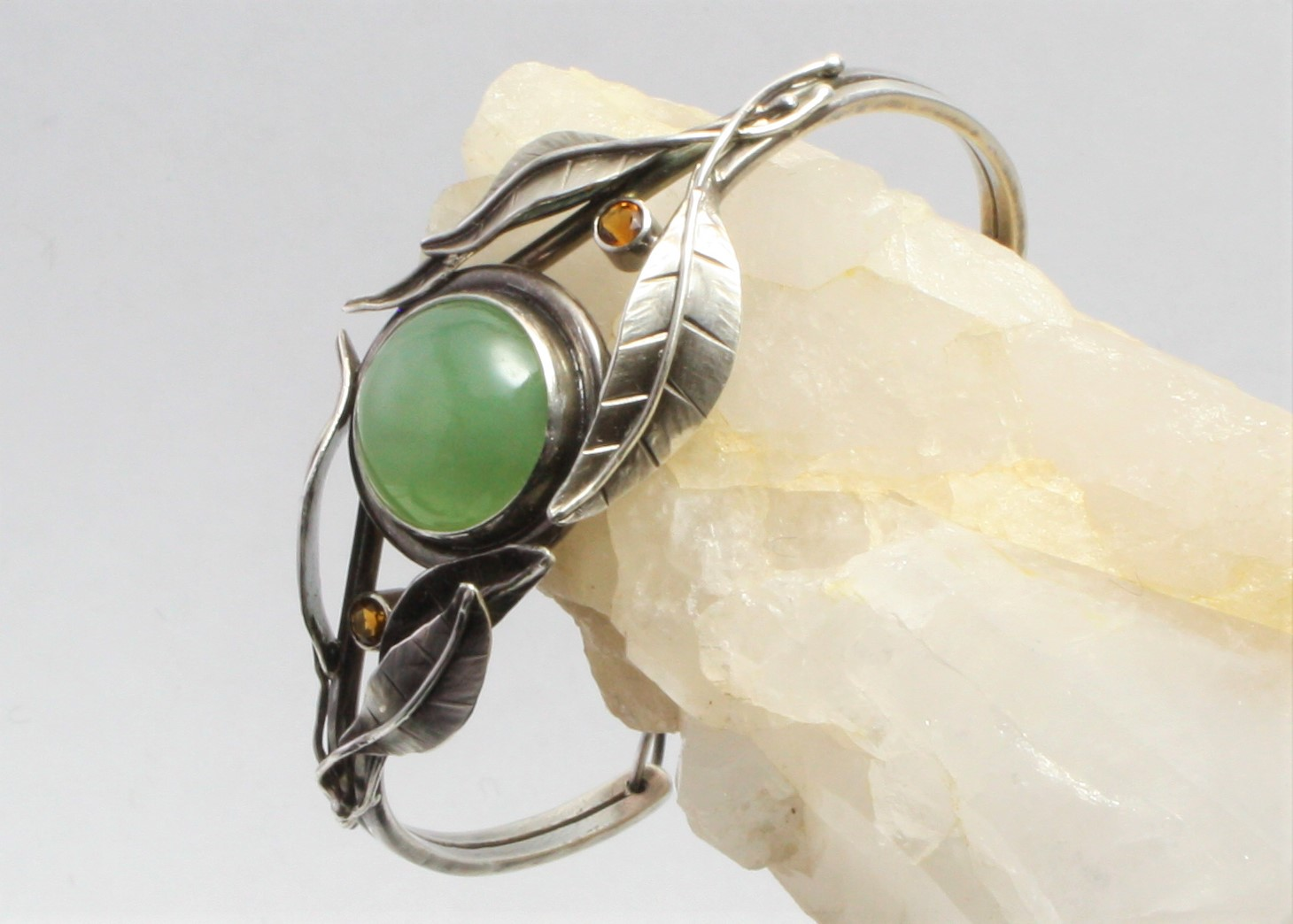 Siberian Jade & Citrine Bracelet