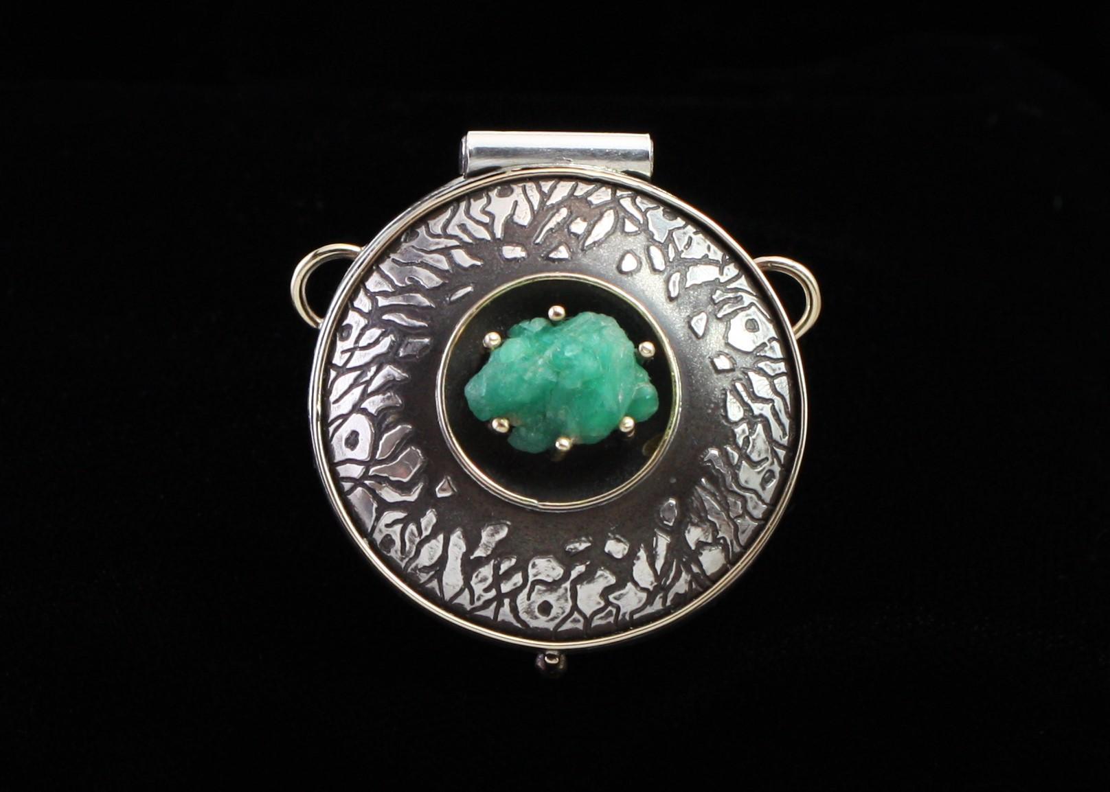 Rough Emerald Locket