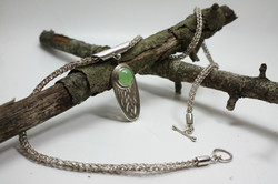 Jade Pendant & Chain