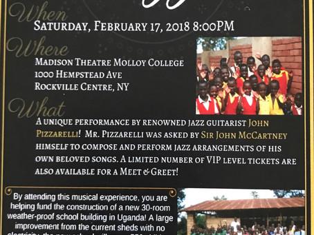 Night of Jazz!  February 17, 2018 8:00pm