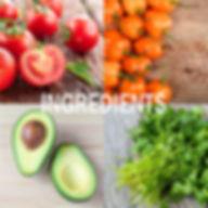 Tomato, peppers, avocado, cilanto