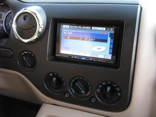 In dash DVD Navigation Custom Instal