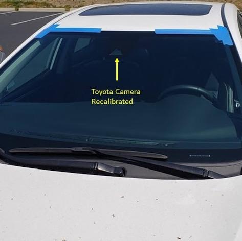 Toyota Camera Recalibrated