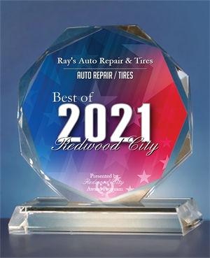 2021 Best of Redwood City Crystal Award.