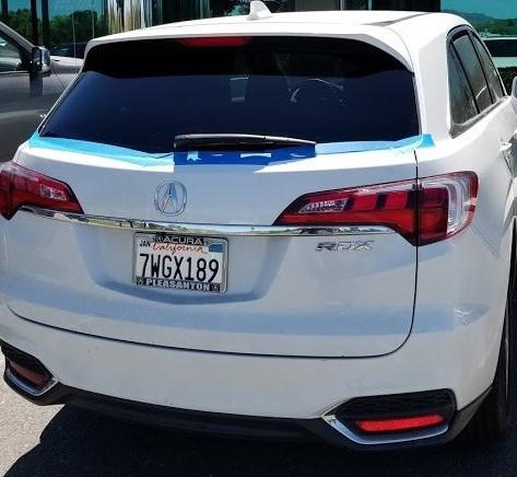 Acura RDX Back Glass
