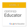 Google Certified Educator Badge Level 2.