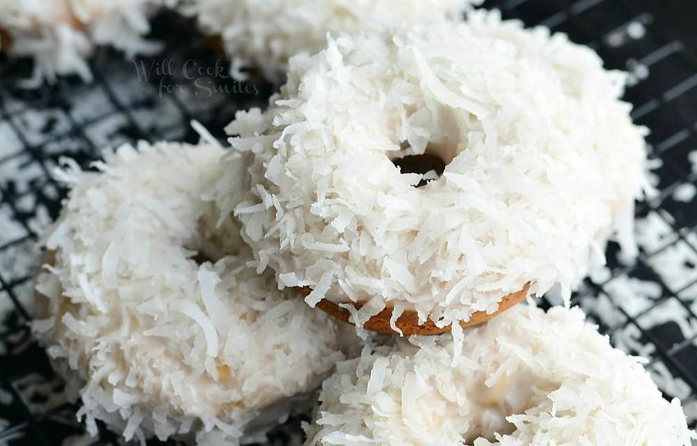 Donuts à la noix de coco et à la vanille