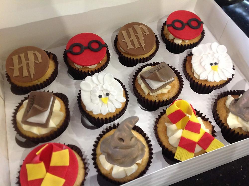 Illustration de cupcakes Harry Potter