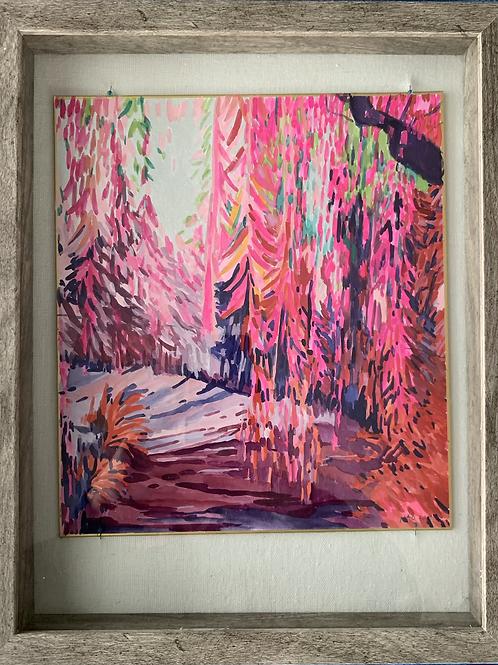 Fuschia Garden Watercolor