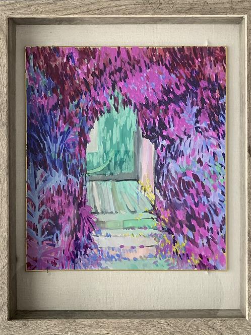 Green Door Watercolor