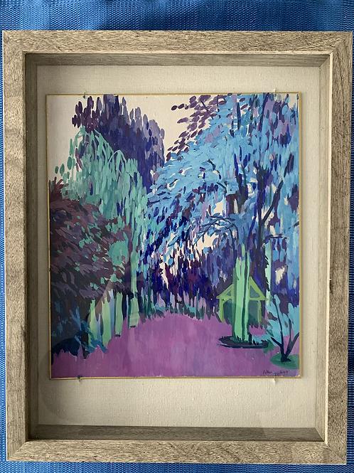 Blue Landscape Watercolor