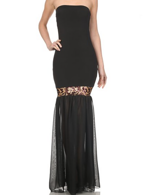 Maxi Dress With Sequin Detail