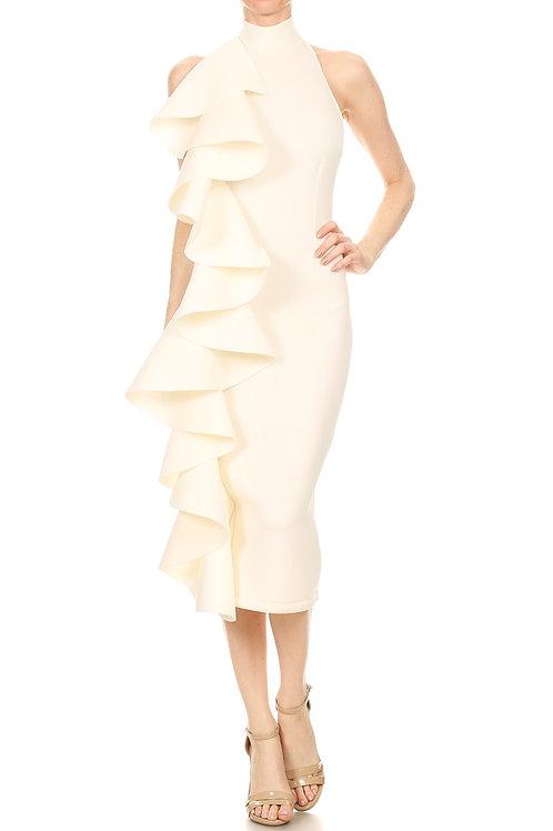 The Alorah Ruffle Dress White