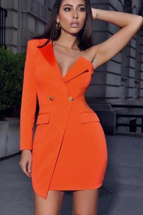 Tuxedo Cold Sholder Dress