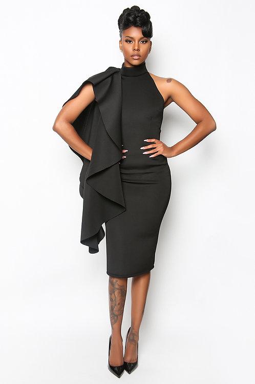 The Cape Shoulder Sleeve Dress