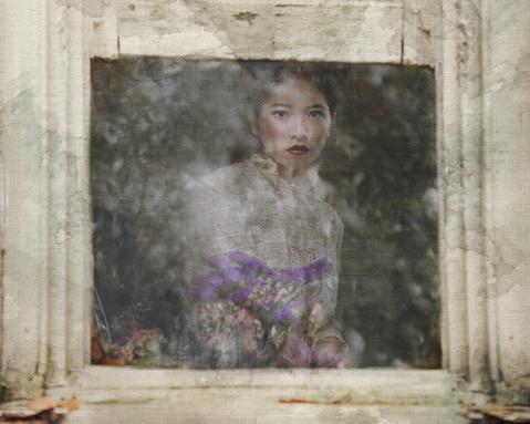 Flowers in the window by Tammy Swarek